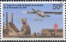 1911 Presidente Vuelo deperdussin aviones Estampilla 100 Años De La Aviación En México