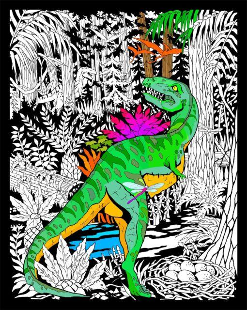 Buy Dinosaur - Large 16x20 Inch Fuzzy Velvet Coloring Poster online ...