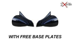 BLACK-DTM-MANUAL-WING-MIRRORS-BMW-E36-3-SERIES-2-DOOR-CABRIOLET-INC-BASE-PLATES