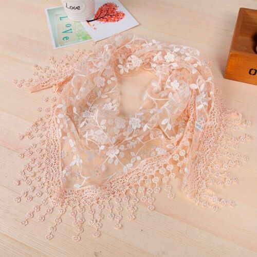 Stylish Ladies Shawl Crochet Wrap Light Design Triangle Lace Tassels Scarf