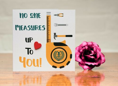 No one measure up to you card Sewing or Tools all occasions Birthday mum dad
