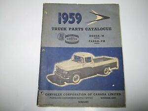 Details about 59 Dodge Fargo D-W-P-S-C-T 100-900 Truck Parts Catalog  Catalogue USED