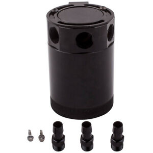 Universal-Racing-Baffled-3-Port-Oil-Catch-Can-Tank-Reservoir-Air-Oil-Separator