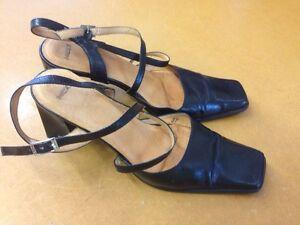 Details zu Mexx Damen Schuhe Riemchen Pumps Echt Leder Schwarz Gr 37 7cm Absatz Top Zustand