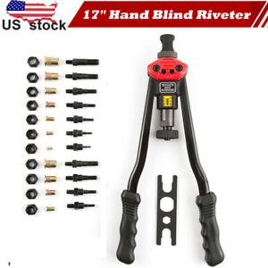 "Rivet Nut Gun Kit Rivnut Setting Tools Nut Setter Tool Hand Blind Riveter 17/"""