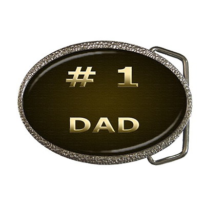 # 1 Dad No 1 Dad Belt Buckle - Great Gift Item