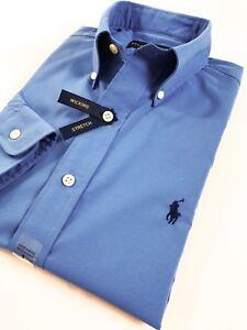 BNWT-Ralph-Lauren-Men-s-Shirt-Aerial-Blue-Performance-Poplin-Standard-Fit