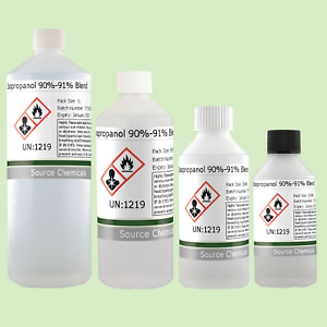 Details about Isopropyl Alcohol 90-91% Blend (Rubbing Alcohol) 100ml to 1L