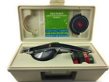 Dymo 1570 Deluxe Tapewriter Label Maker 2 Wheels Original Case With Tape