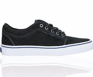 4a26351863bf2b VANS Chukka Low Black Dura-Suede Blue Men s Skate Shoes Size 7