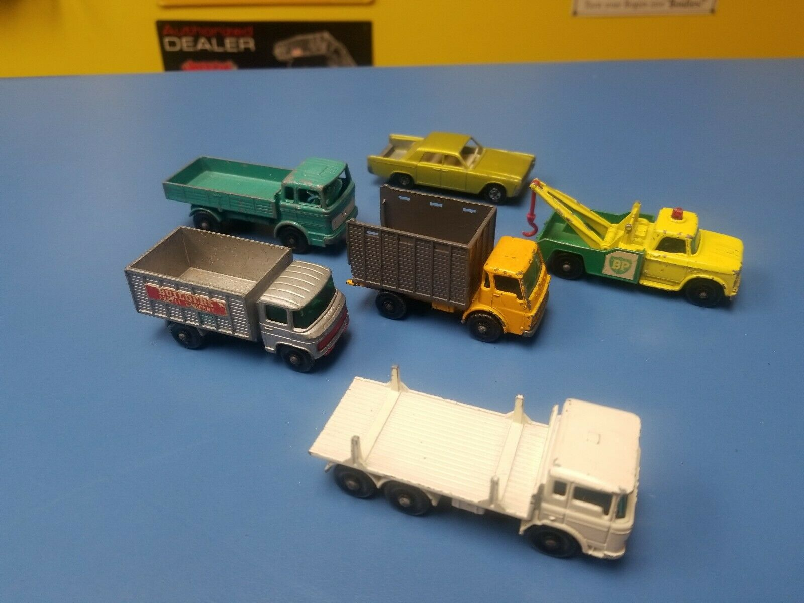 MATCHBOX LESNEY  VINTAGE  LOT OF SIX VEHICLES  PRE-OWNED