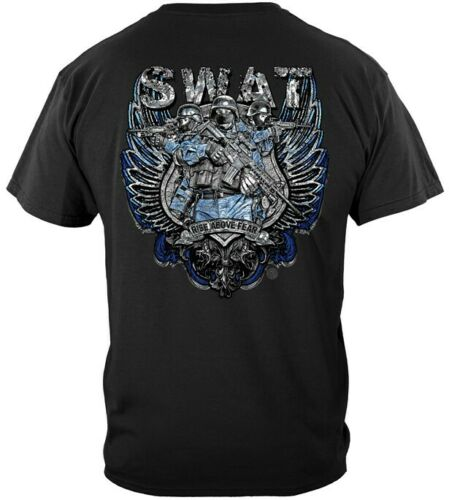 SWAT CHROME WINGS SILVER FOIL  T-SHIRT ADULT SIZES
