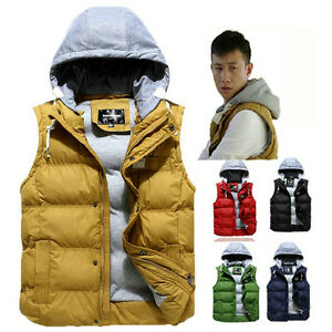 Men's Hoodies Hooded Quilt Puffy Puffa Puffer Padded Winter Vest Padding Jacket