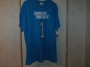 more photos f3c40 43ba7 Details about Carolina Panthers Cam Newton Jersey T-Shirt Dabbing Shadow  Men Size Large NWT