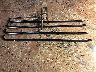 4 Stück Metall Hosenbügel , Gummiert, 40 Cm Lang