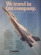 5/1982 PUB TURBOMACH SOLAR TURBINE SAN DIEGO F-16 TITAN JFS JET FUEL STARTER AD