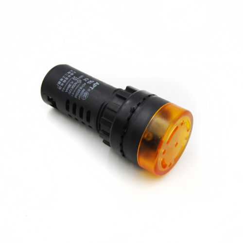 Yellow AC//DC 12V LED Active Buzzer Accident Signal Indicator Lamp AD16-22SM