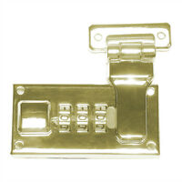 Replacement Combination Lock In Polished Brass Plate (1 Pair)