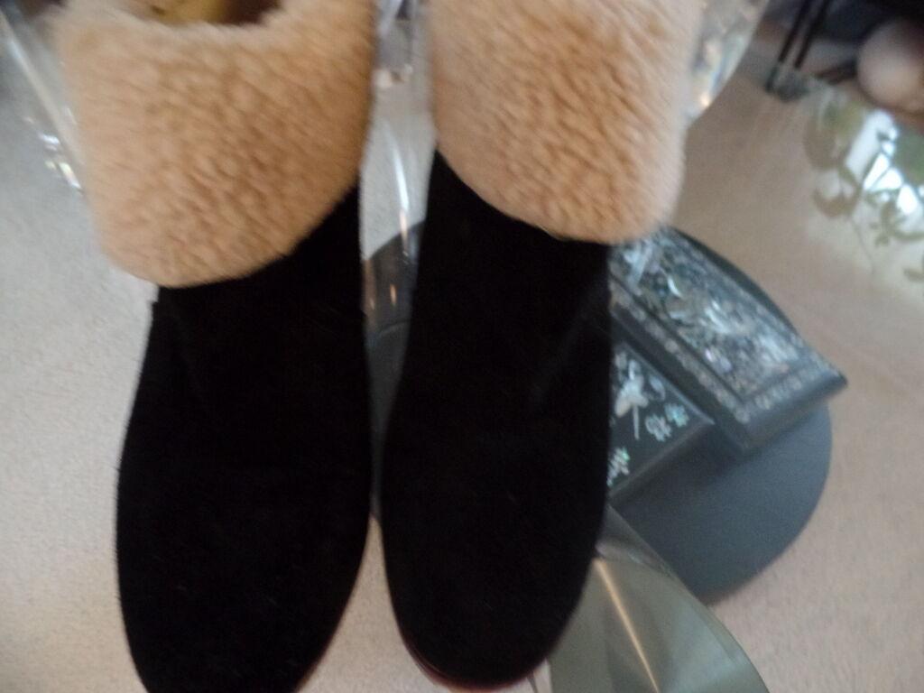 KELSI DAGGER FONTANNE BEAUTIFUL BLACK LEATHER EUC  ANKLE Stiefel  WEDGES SZ 8.5 EUC LEATHER d8ffdd