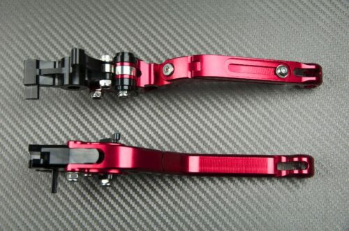 Faltbare Einstellbarer Hebel Paar Flip Up Rot CNC HONDA ST1300 1300 PAN EUROPEAN