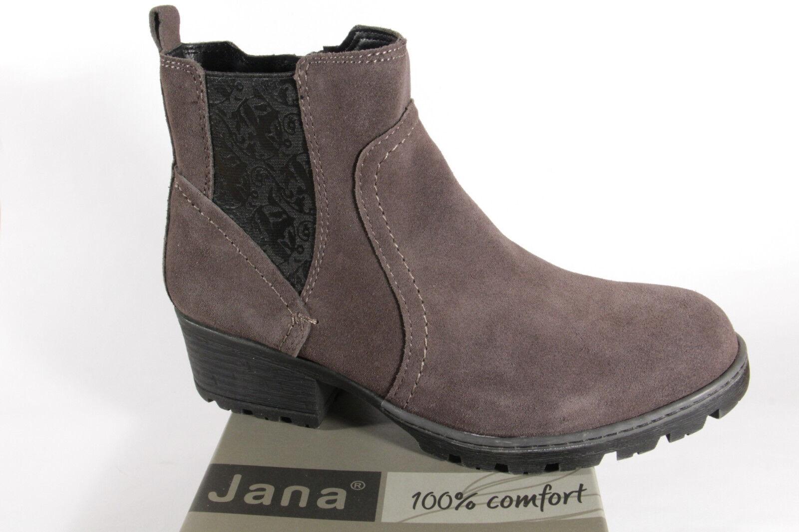 Zapatos especiales con descuento Jana 25404 Damen Stiefel, Stiefeletten Boots Echtleder grau NEU!