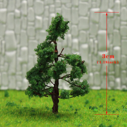 D3210 200pcs Scale Z Train Layout Set Model Trees 32mm 1:200-1:220