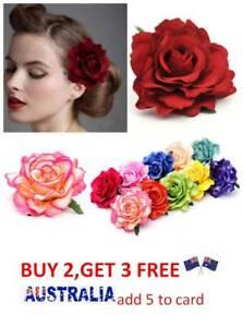 Large-Bridal-Rose-Flower-Hair-Clip-Hairpin-Brooch-Wedding-Accessories-Brides-AU