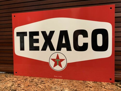 Texaco Vintage Style Metal Advertising Sign  Oil Gas Gasoline