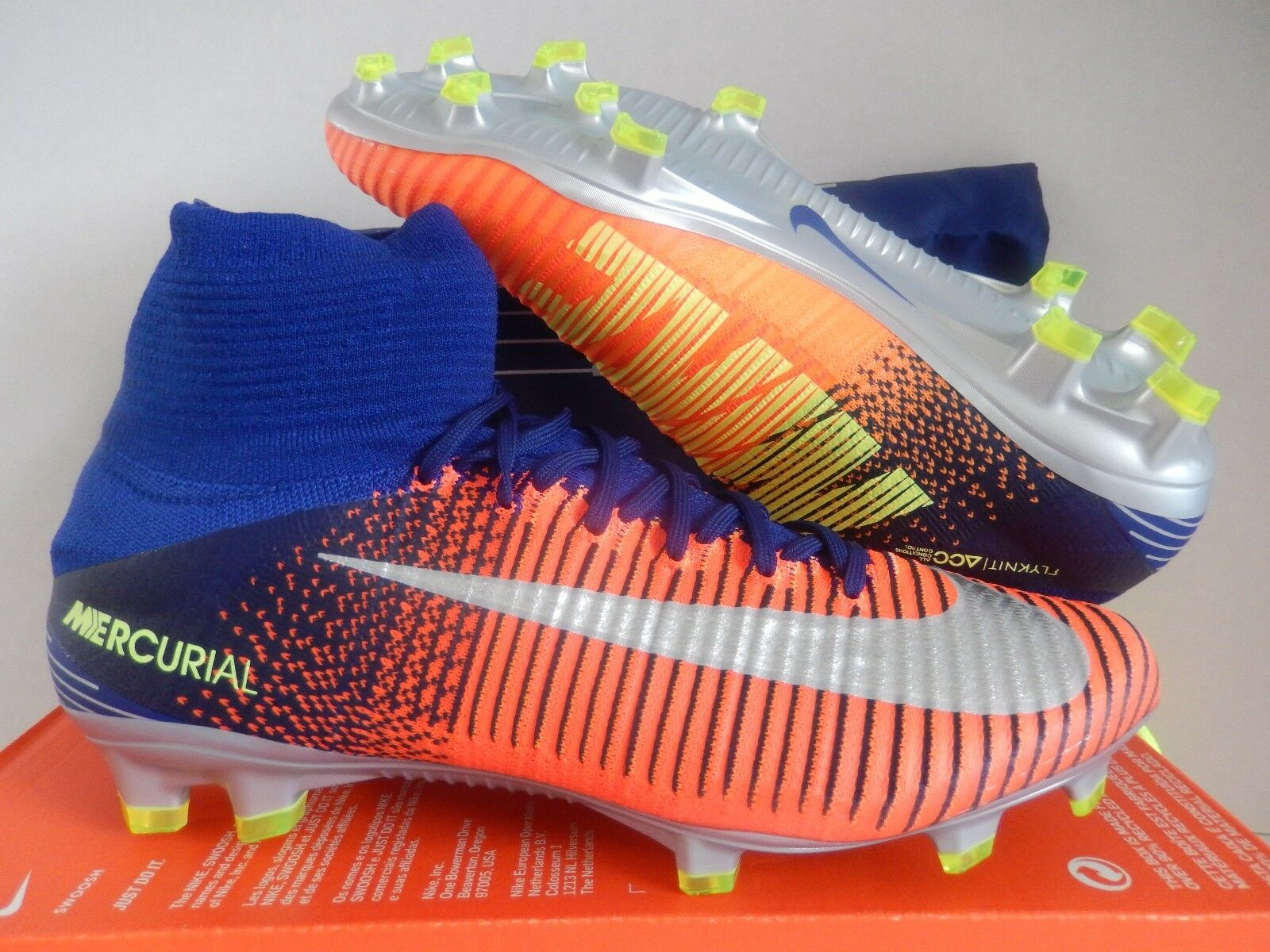 NIKE MERCURIAL SUPERFLY V FG DEEP ROYAL blueE-CHROME SZ 11.5 [831940-408]