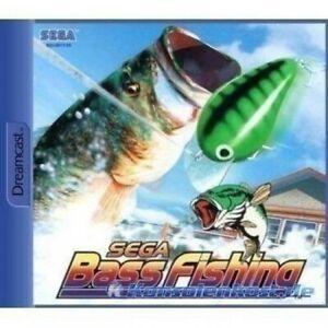 SEGA-Dreamcast-Spiel-Sega-Bass-Fishing-mit-OVP-OVP-beschaedigt