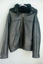 WILSONS 100% Leather Shearling B3 Aviator Bomber Flight Jacket / Coat Size: S