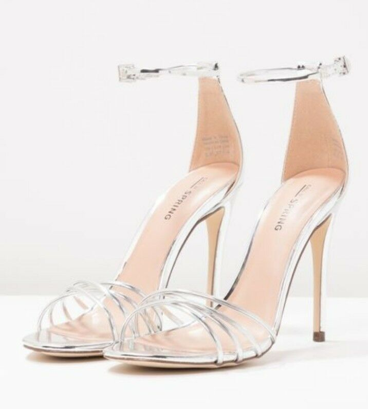 Call it Spring FIWIEN - High Heeled Sandals Silver Size UK 7