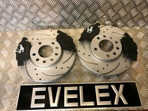 DRILLED-AND-GROOVED-FRONT-DISCS-amp-PADS-SAAB-93-OPEL-VAUXHALL-SIGNUM-VECTRA-285mm