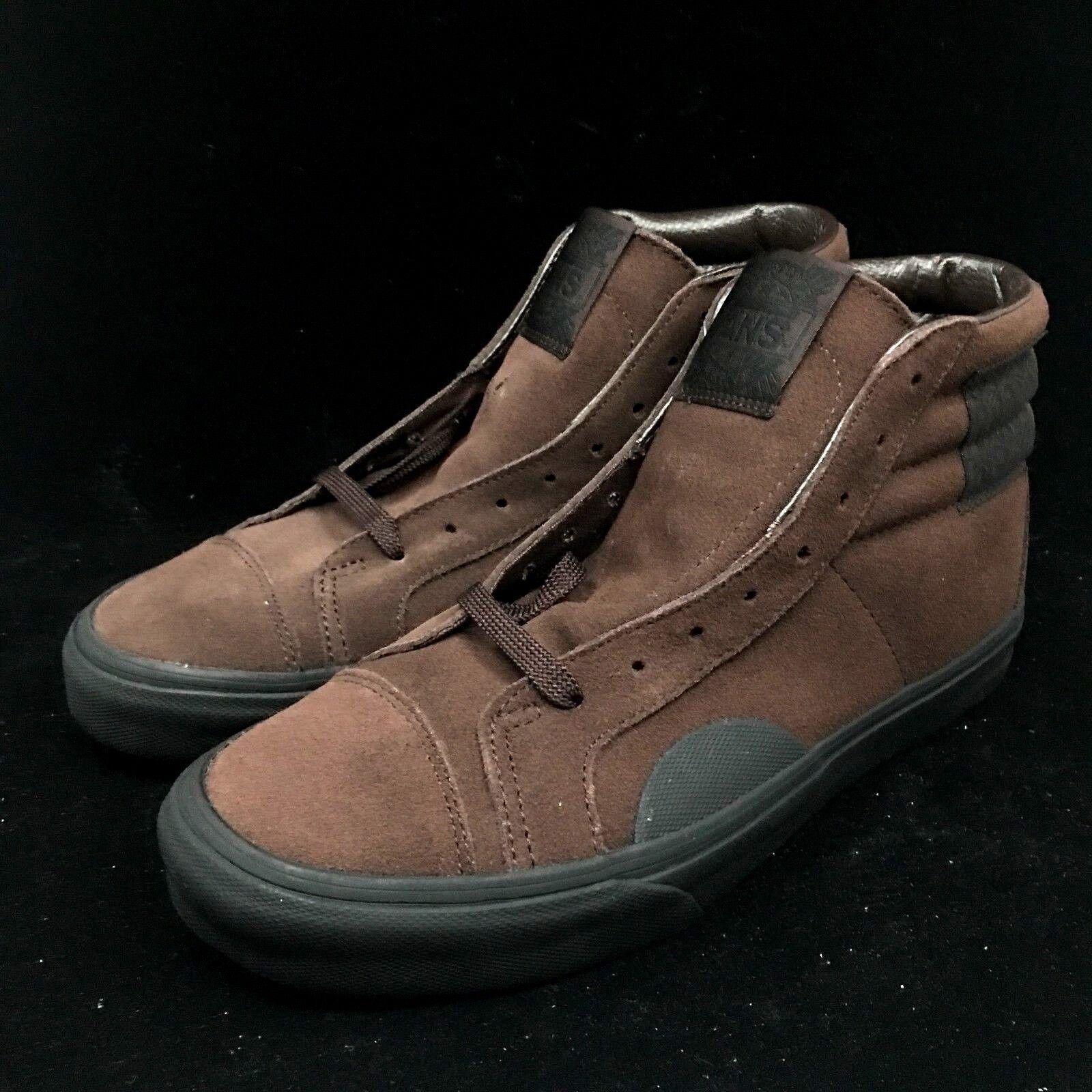 Vans Style 238 Suede Black Brown High Top VN0A3JFIQXQ Boot Hi