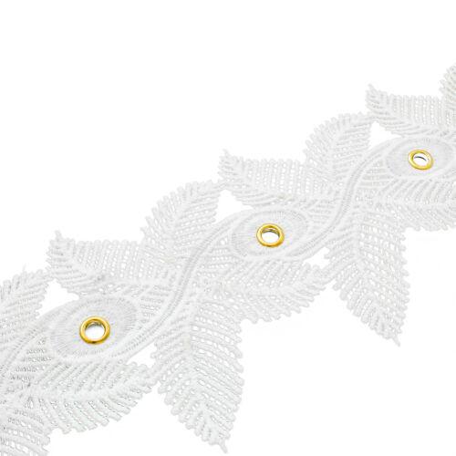 Vintage Embroidery Bridal Guipure Trim Lace Black White Diamante Eyelets Ribbon