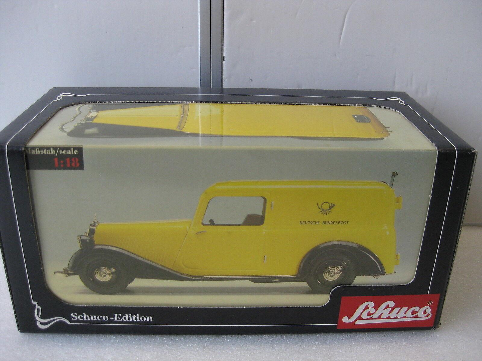 Schuco   0034  SCHUCO Edition MERCEDES 170 V encadré voiture Post métal Replica  vente chaude en ligne