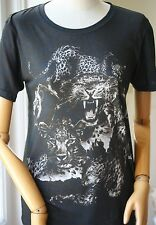 BALMAIN ANIMAL T-SHIRT TEE FR 38 UK 10