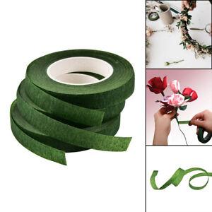 Fleur-florale-12mm-de-ruban-elastique-de-tige-verte-durable-de-fleuriste-de-Ro9H