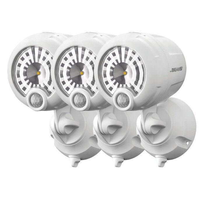 Mr Beams helle LED Scheinwerfer mit Bewegungsmelder MB360XT 3er Pack weiß
