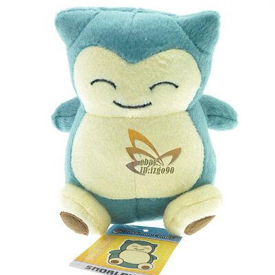 "New Pokemon 6"" Snorlax Cute Rare Plush Soft Toy Doll & Tag /PC1585"