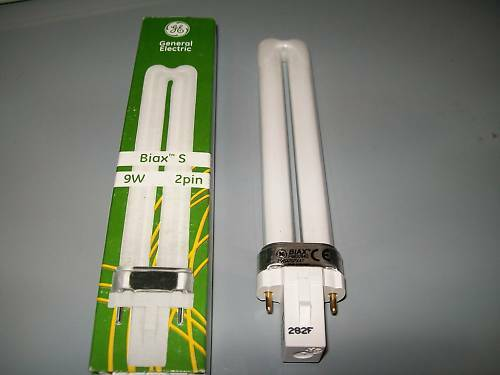 NEW 9 Watt Energy Saving Replacement Tube Globe 16cm.