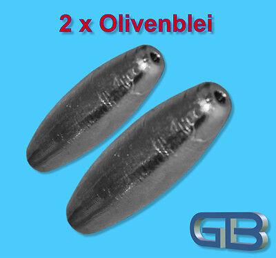 2 x Olivenblei Inliner 4,6,8,10,12,15,20,30g Durchlaufblei Blei Angelblei.