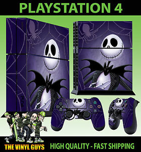 PS4-Piel-Pesadilla-antes-de-Navidad-Jack-Pumpkin-Pegatina-Pad-vinilo-Stood