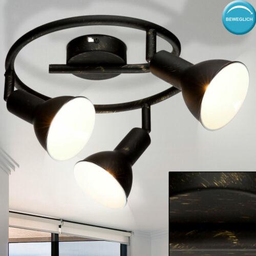 Vintage plafonnier Lampe Noir Rondell spots mobiles Chambre Luminaire Or