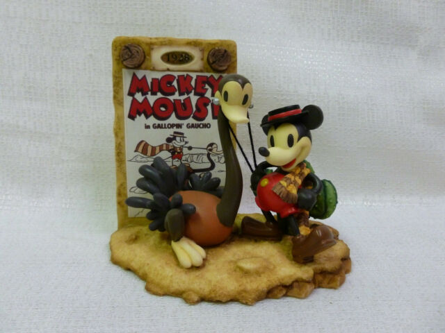 1928 The Best of Mickey Mouse Gallopin Gaucho Walt Disney Figurine