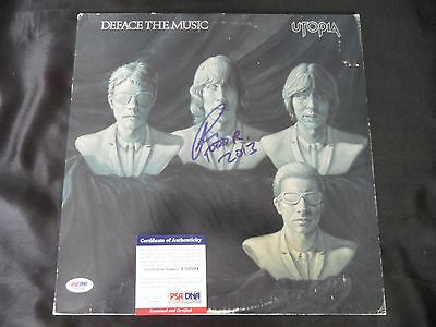 Entertainment Memorabilia Rock & Pop Todd Rundgren Signed Utopia Deface The Music Album Lp Psa/dna #v50504 Convenient To Cook