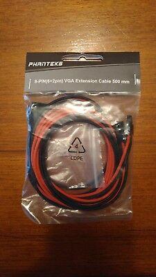 6+2 VGA Extension Cable 500mm Phanteks 8 Pin