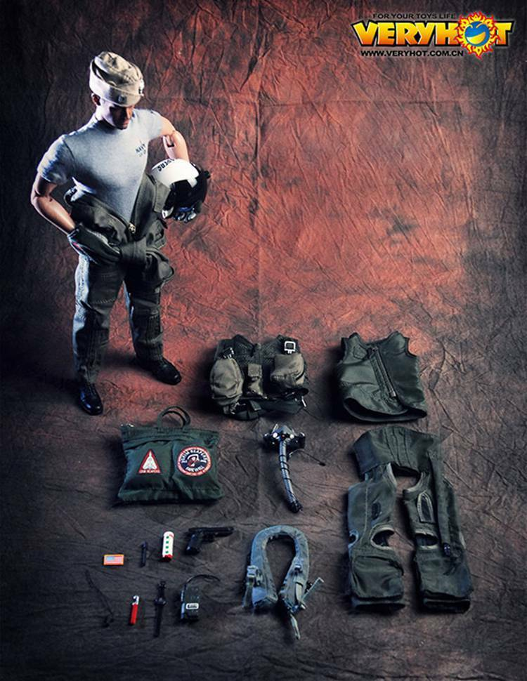 VERYHOT VH 1049 1 6 Scale US Army Army Army VF-101 Grim Reapers Pilot Figure Toy a631f2