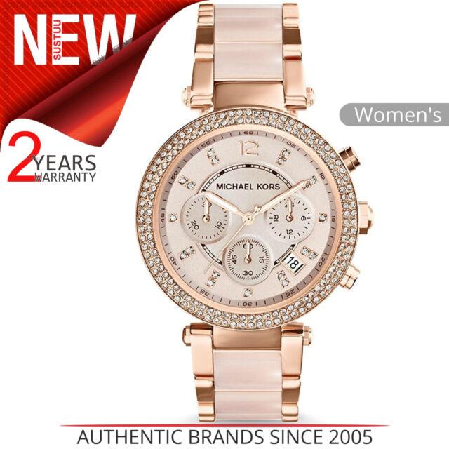 Michael Kors Parker Ladies Watch MK5896¦Daimond Accent Chrono Dial¦Rose Gold