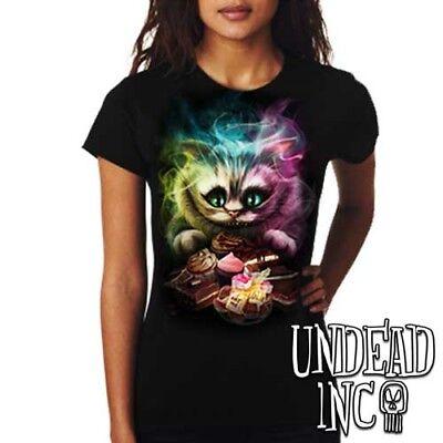 Disney Alice in Wonderland Tim Burton/'s Cheshire Cat Ladies Tank Top Singlet